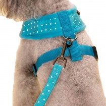 Vest Leashes - Dog Harness Leash--??L Size: Bust 46cm??Blue Dot 1