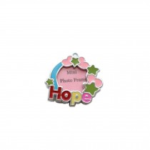[HOPE] Colored Heart  Decorated Mini Photo Frame Style Dog ID Tag Cat ID Tag