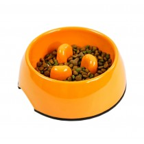 Pet Supplies Pet Bowl Dogs/Cats Bowl Slow Food Bowl Orange, Large