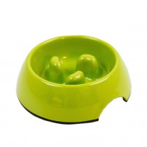 Pet Supplies Pet Bowl Dogs/Cats Bowl Slow Food Bowl Green, Large
