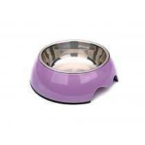 Round Stainless Steel Bowls for Pets Dogs Cats Purple, Size M(17*5.5 cm)