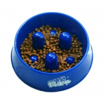 Pet Food Slow Feed Bowl for Dogs Cats (17.5*6 cm)--Random Color