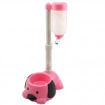 Pet kitten Puppy Adjustable Height Water Dispenser,Dog Water Bottle,PINK