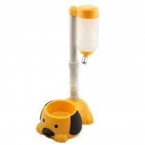 Pet kitten Puppy Adjustable Height Water Dispenser,Dog Water Bottle,YELLOW
