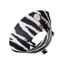 Zebra Pattern Elizabeth Protective Collar Wound Healing for Dog Cat Pet, L
