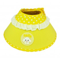 Candy Color Dog Wound Healing Elizabeth Protective Collar YELLOW, S