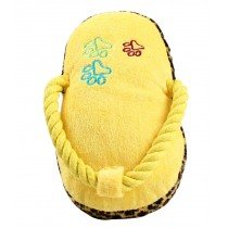 Creative Slipper Shaped Knot Rope Ball Chew Dog Puppy Toy Pet Chew Toy YELLOW