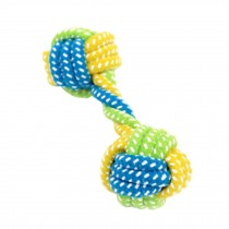 2 PCS Colorful Double Ball Knot Rope Pets Chew Toys Dogs Chew Toy 16x6cm