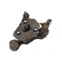 Resin Emulational The Old Man Stone Table Aquarium Ornament, 10x8x5.5cm