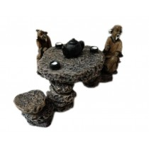 Resin The Old Man Stone Table Aquarium Ornament, 10x8x5.5cm