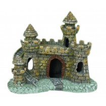 Resin Ancient Castle Aquarium Ornament, 11x6.5x10cm