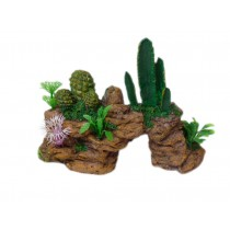 Resin Hillstone Cereus Aquarium Ornament, 20x8x14cm