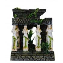 Ancient Carcass Building Resin Aquarium Ornament, 15x10x17cm