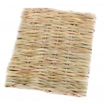 Natural Indoor Rabbit Hutch Straw Mattress Small Pet Hand Made Rectangl Sofa Bed