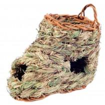Natural Outdoor Rabbit Hutch Straw Mattress Hand Made Straw House Boot Shape