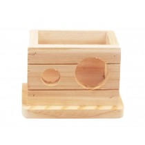 Small Pet Hamster Wooden House/Bedroom Accessories, Square