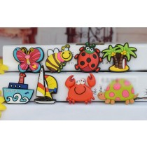 8 PCS Creative Cartoon Magnets for Kids PVC Fridge Magnets