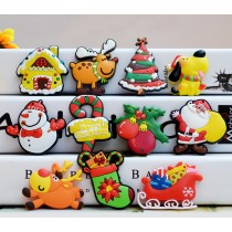 Chrismas Tree Snowman Elk Fridge Magnets Gift for Kids 11 PCS