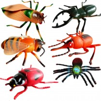 Large Simulated Insect Figurines Toy Halloween Joke Trick Kids Educational Model, 6 Pcs