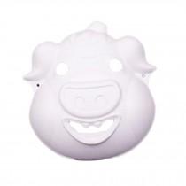 10 Pcs White Mask DIY Costume Mask Pig Mask Painting Mask Paper Blank Mask Draw