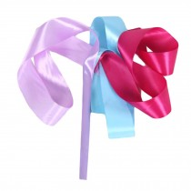 2 Pcs Dance Ribbon Dancing Props Kids Gymnastics Ribbon / Blue&Lilac&Rose