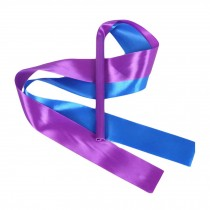 2 Pcs Kids Dance Streamers Gymnastics Dance Ribbon Dancing Props / Blue & Purple