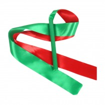 2 Pcs Kids Dance Streamers Gymnastics Dance Ribbon Dancing Props / Green & Red
