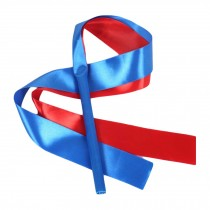 2 Pcs Dancing Props Kids Dance Streamers Gymnastics Dance Ribbon / Blue & Red