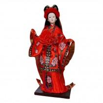 Handmade Dolls Chinese Characteristics Silk Figurine Chinese Art-Jia Tanchun