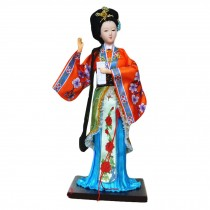 Traditional Chinese Art Silk Figurines Chinese Doll Chinese Figures-Jia Yingchun