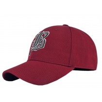 Outdoor Sports Men's Cap Baseball Cap Summer Breathable Sunscreen Hat Free Size(Wine-red)