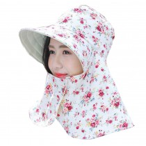 Women Outdoor Summer Sun Flap Cap Hat Neck Cover Face UV Protection Hat Free Size (Foldable#02)