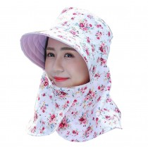 Women Outdoor Summer Sun Flap Cap Hat Neck Cover Face UV Protection Hat Free Size (Foldable#03)