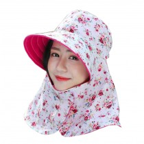 Women Outdoor Summer Sun Flap Cap Hat Neck Cover Face UV Protection Hat Free Size (Foldable#05)