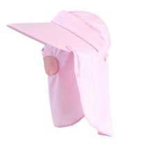 Women Outdoor Summer Cap Face Anti-UV Hat Neck Protection Cover Free Size (Breathable#06)