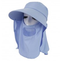 Women Outdoor Summer Cap Face Anti-UV Hat Neck Protection Cover Free Size (Breathable#07)